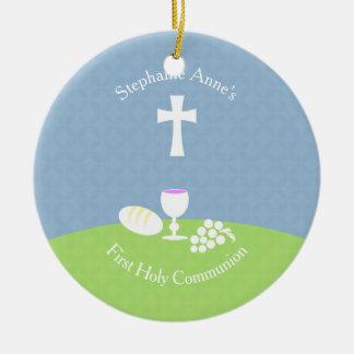 Communion Bread of Life Round Ceramic Decoration