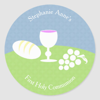 Communion Bread of Life Round Sticker