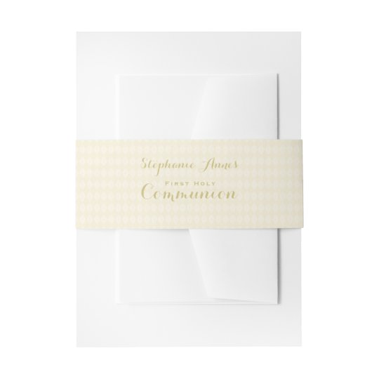 Communion Chalice Invitation Belly Band