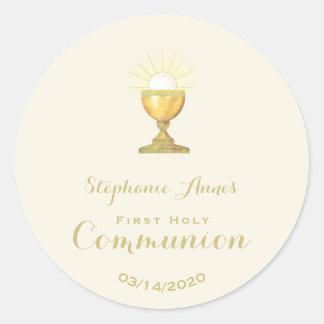 Communion Chalice Round Sticker