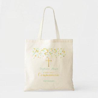 Communion Mint and Gold Confetti