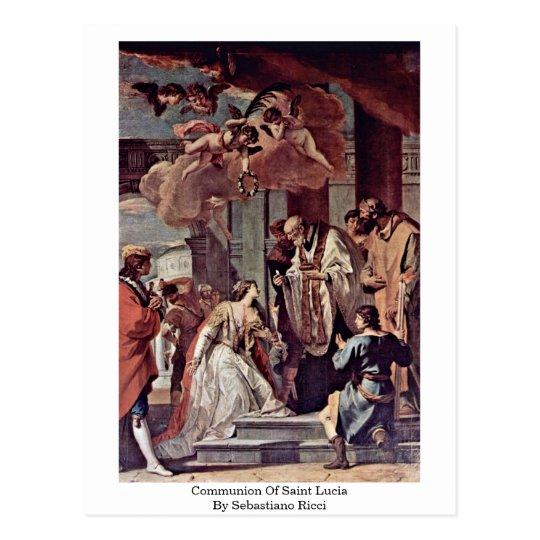 Communion Of Saint Lucia By Sebastiano Ricci Postcard