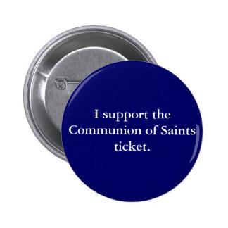 Communion of Saints '08 6 Cm Round Badge