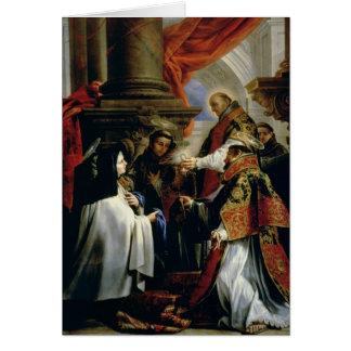 Communion of St. Teresa of Avila  c.1670 Card