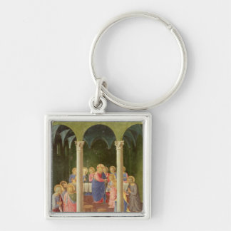 Communion of the Apostles, 1451-53 Silver-Colored Square Key Ring