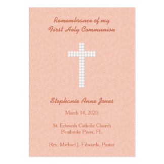 Communion Peach Vines and Stripes Pack Of Chubby Business Cards
