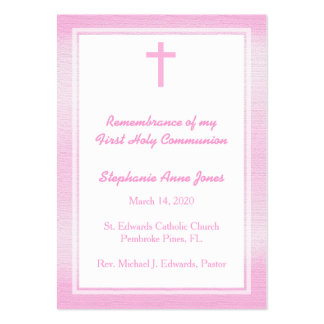 Communion Pink Watercolor Pack Of Chubby Business Cards