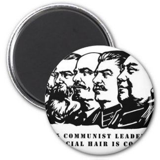 Communism facial hair refrigerator magnets