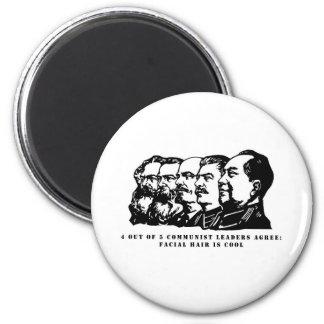 Communism facial hair refrigerator magnets