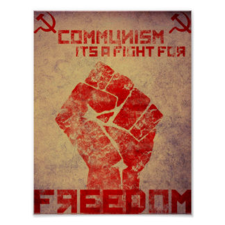 Communism is a fight poster