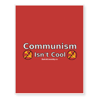 Communism Isn't Cool Temporary Tattoo - Red