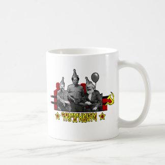 Communism It's a Party Basic White Mug