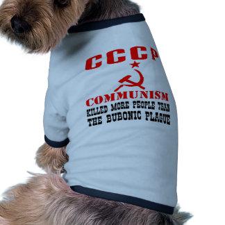 Communism Killed More People Than Bubonic Plague Ringer Dog Shirt