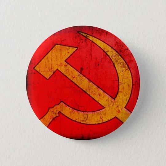 Communism USSR Hammer and Sickle Button