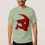 Communist DKP Style Hammer & Sickle Tshirt