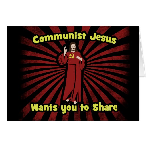 Communist Jesus Greeting Card
