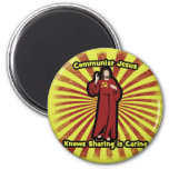 Communist Jesus knows Sharing is Caring Refrigerator Magnets