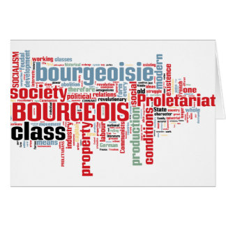 Communist Manifesto Word Cloud Card