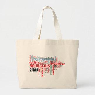 Communist Manifesto Word Cloud Large Tote Bag