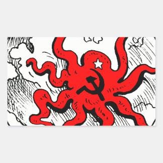Communist Octopus Rectangle Sticker