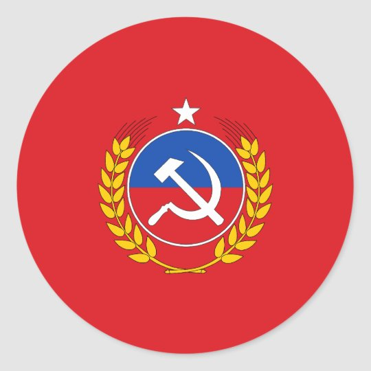 Communist Party Of Chile, Chile flag Classic Round