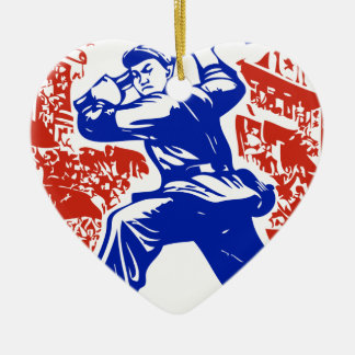 Communist Party of China Ceramic Heart Decoration