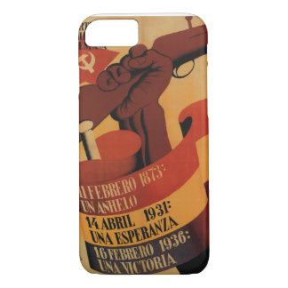 Communist Party of Spain_Propaganda Poster iPhone 7 Case