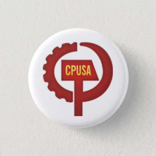 communist party usa 3 cm round badge
