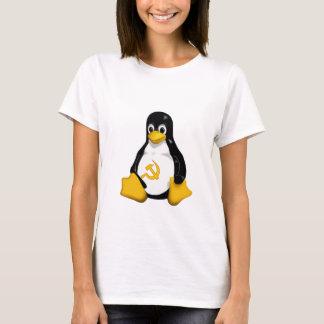 Communist Penguin ( Linux ) on White Baby Doll T-Shirt