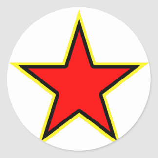 Communist Red Star Classic Round Sticker