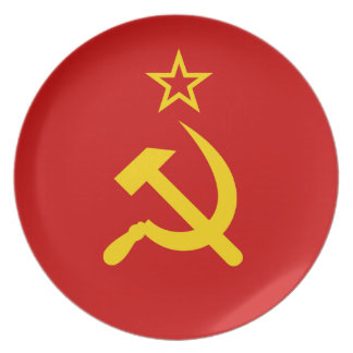 Communist Russia Flag USSR Party Plates