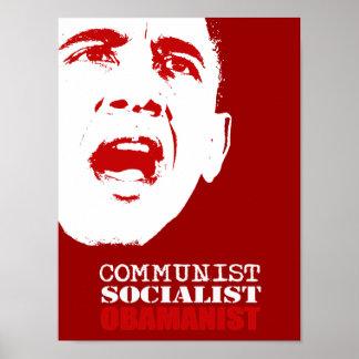 COMMUNIST, SOCIALIST, OBAMANIST POSTER