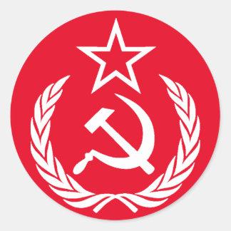 Communist Round Sticker