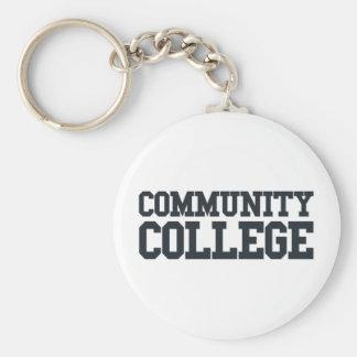 Community Basic Round Button Key Ring