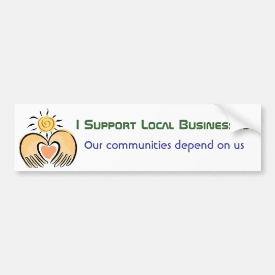 Community Business Support Bumper Sticker
