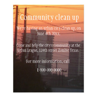 Community clean up flyer