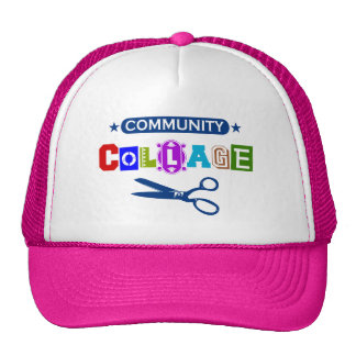 Community Collage - Funny Arts and Crafts Pun Trucker Hat