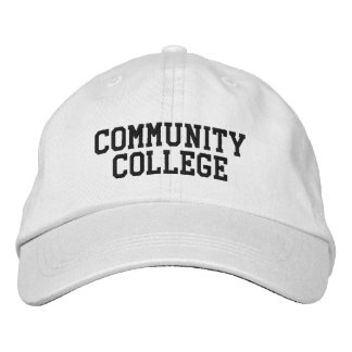Community College Head Protector Embroidered Baseball Caps