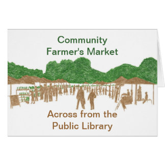Community Farmer's Market Greeting Cards
