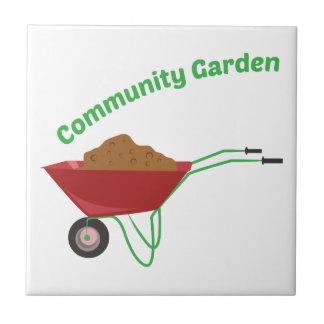 Community Garden Ceramic Tile