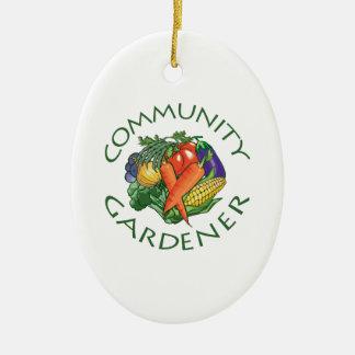 Community Gardening Christmas Ornament