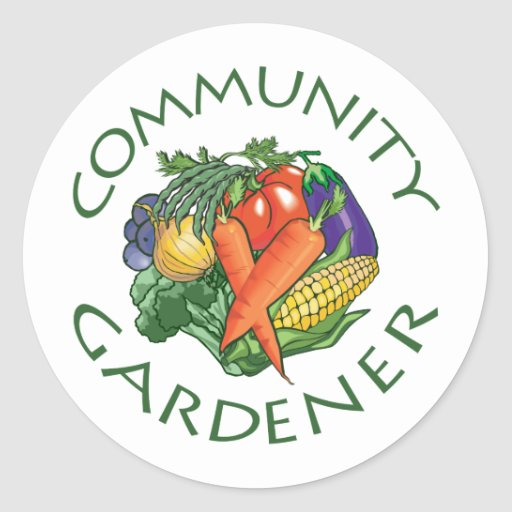 Community Gardening Classic Round Sticker