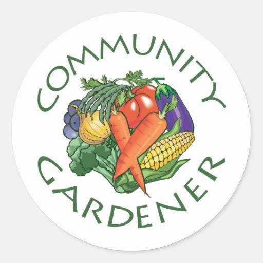 Community Gardening Round Sticker