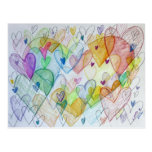 Community Hearts Colour Postcard
