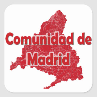 Community of Madrid Square Sticker