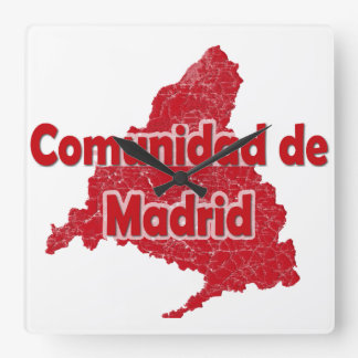 Community of Madrid Square Wall Clock