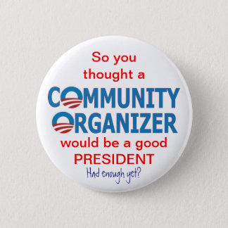 Community Organizer Obama 6 Cm Round Badge