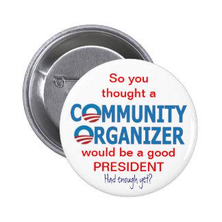 Community Organizer Obama 6 Cm Round Badge