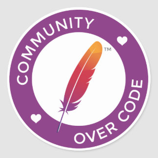 Community over Code Classic Round Sticker