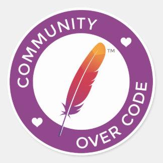 Community over Code Round Sticker